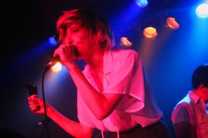 Fay performing with July Talk.