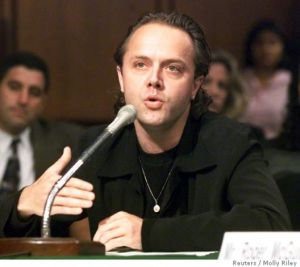 Lars Ulrich, Metallica's drummer, testifying in Washington during the Metallica v. Napster trial in 2006. Photo by Molly Riley REUTERS.