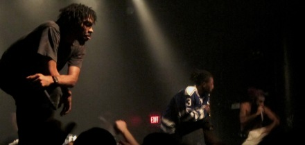 Flatbush Zombies perfuming at CMW.