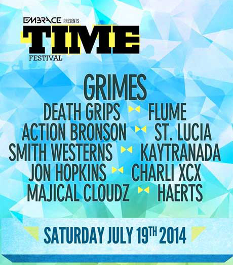 The promo poster for the 2014 TIME Festival, via Indie88.