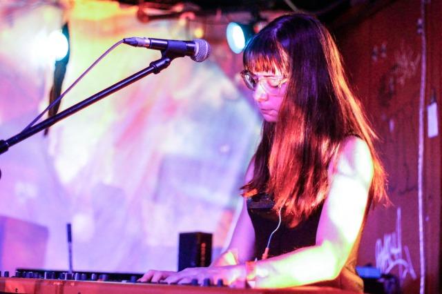 LOCKBOX (Laura Barrett) performing at Sneaky Dee's for Wavelength 15. Photo by Elysse Cloma.